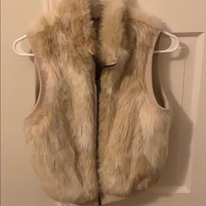 Faux fur vest perfect condition! Worn 1x